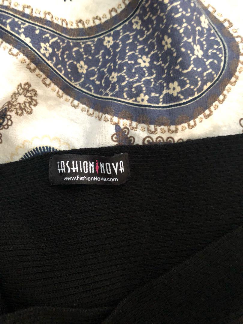 Fashion Nova Off The Shoulder Cross Top