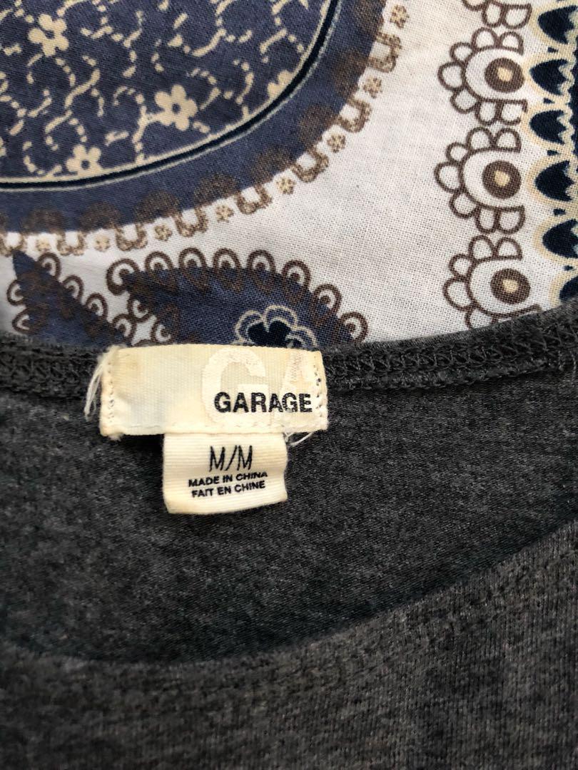 Garage Grey Cropped High-Neck Tank Top