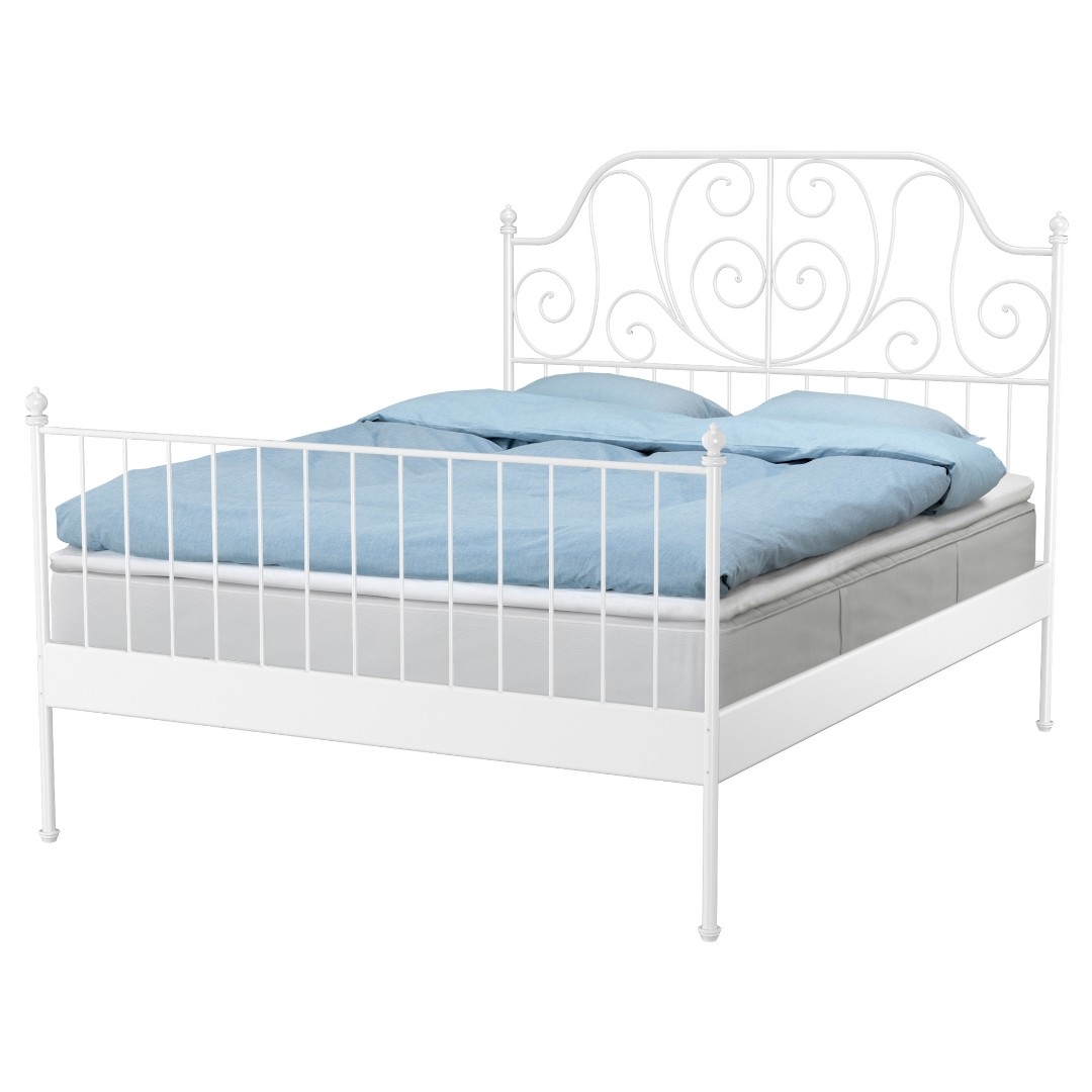 ikea leirvik bed frame 150x200cm Queen Size bed, Home & Furniture ...