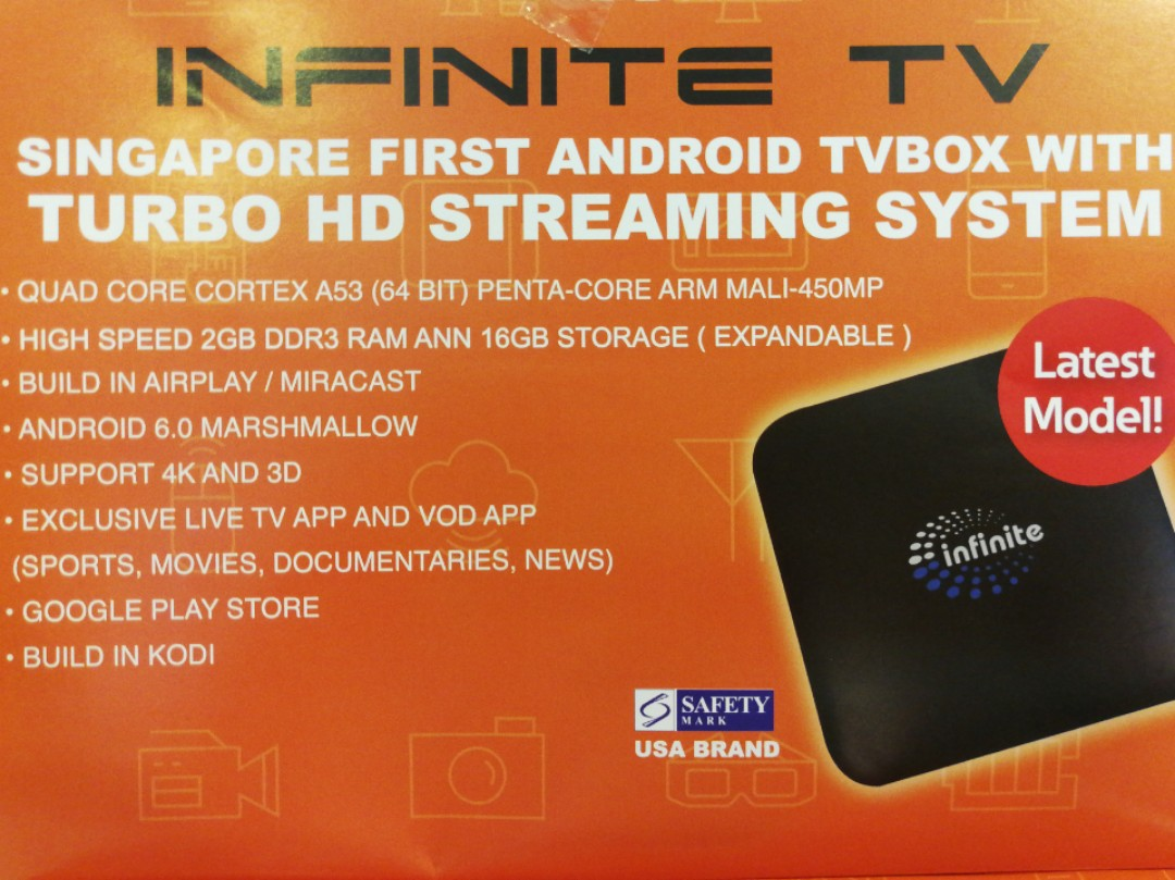 Infinite tv box