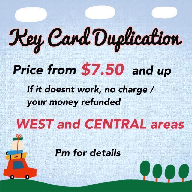 Keycard / Key Card / Access Card Duplication / Copying #UOBpaynow