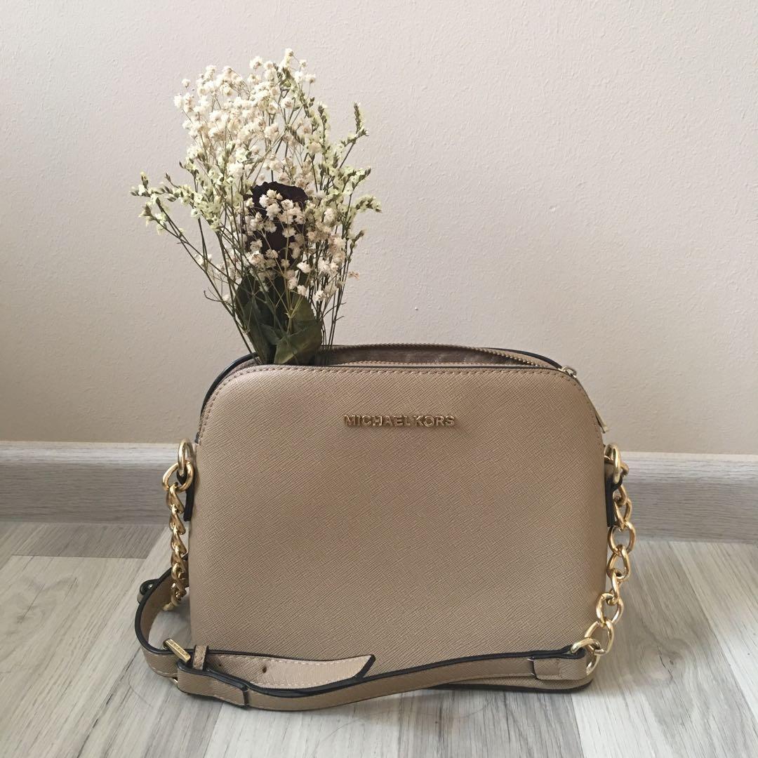 677855892315 Michael Kors Cindy Dome Sling Bag, Women's Fashion, Bags & Wallets ...