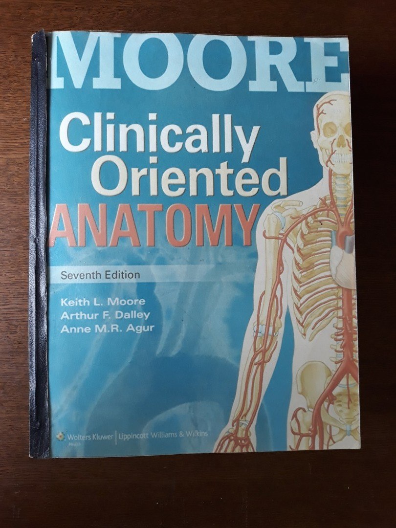 Moore Clinically Oriented Anatomy (Reprint), Textbooks on Carousell