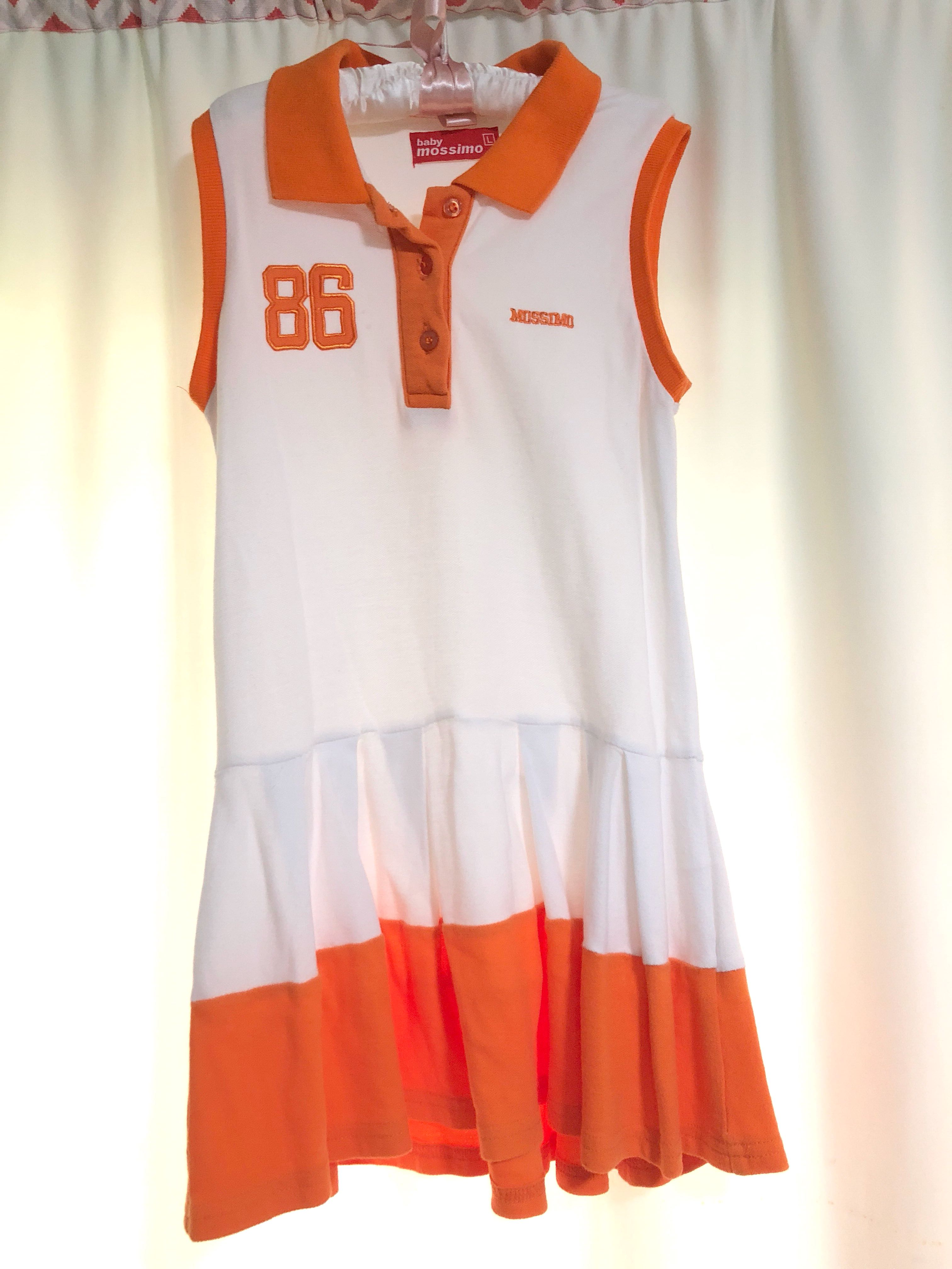 38d3d0e354bf Mossimo White Golf Dress with Orange Trimmings