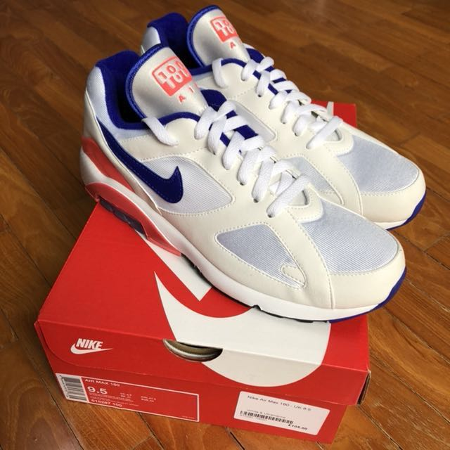 brand new 470c4 58a9d Nike Air Max 180 Ultramarine (UK8.5, US9.5), Men s Fashion, Footwear ...