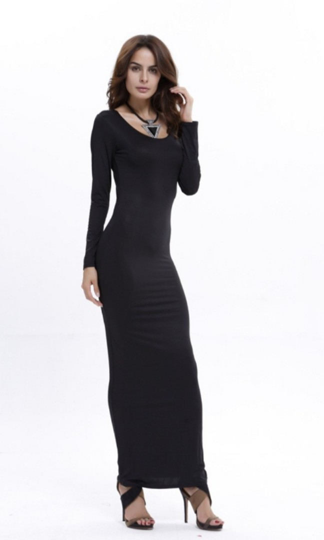 b23a84dd15d Plus Size Bodycon Maxi Dress