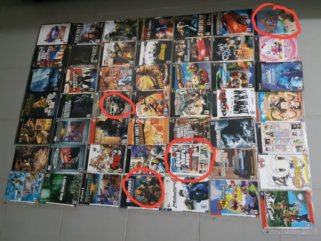 Ps2 Games Set all for $ 300 Select separately games minimum 5pcs 1pcs $10  Ok  It's need modified ps2 to play the game