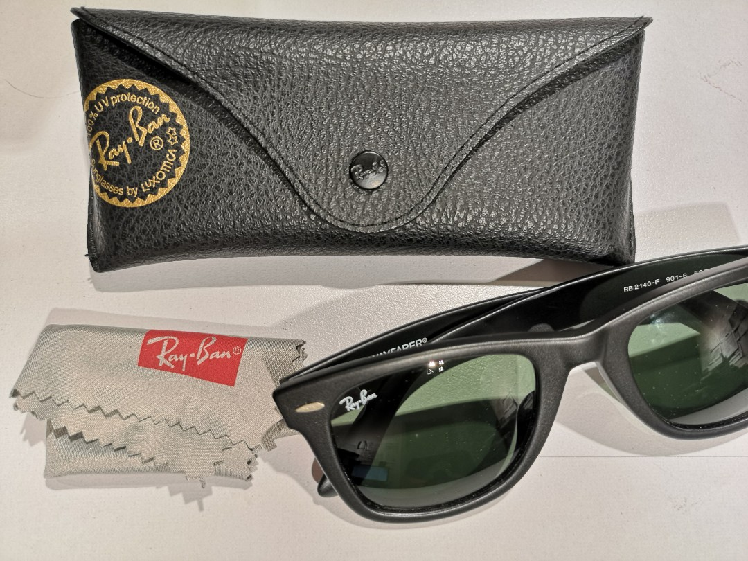1a67515e0b Ray-Ban Original Wayfarer RB2140F 901S 52 Matte Black  Brand New ...