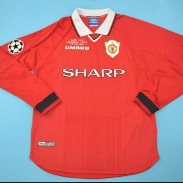 sale retailer 1fe77 f8912 Retro Manchester United 1999 Champions League Final Jersey ...