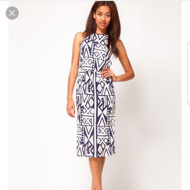 634af7d47c River Island Racerback Geometric Aztec Tribal Midi dress #hariraya35 ...