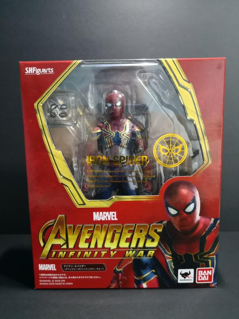S h figuarts iron spiderman(marvel avengers infinity war