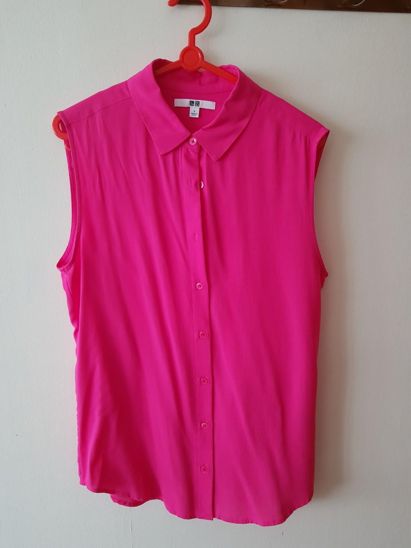 b52807b0dfd192 Uniqlo anti wrinkle sleeveless shirt, Women's Fashion, Clothes, Tops ...