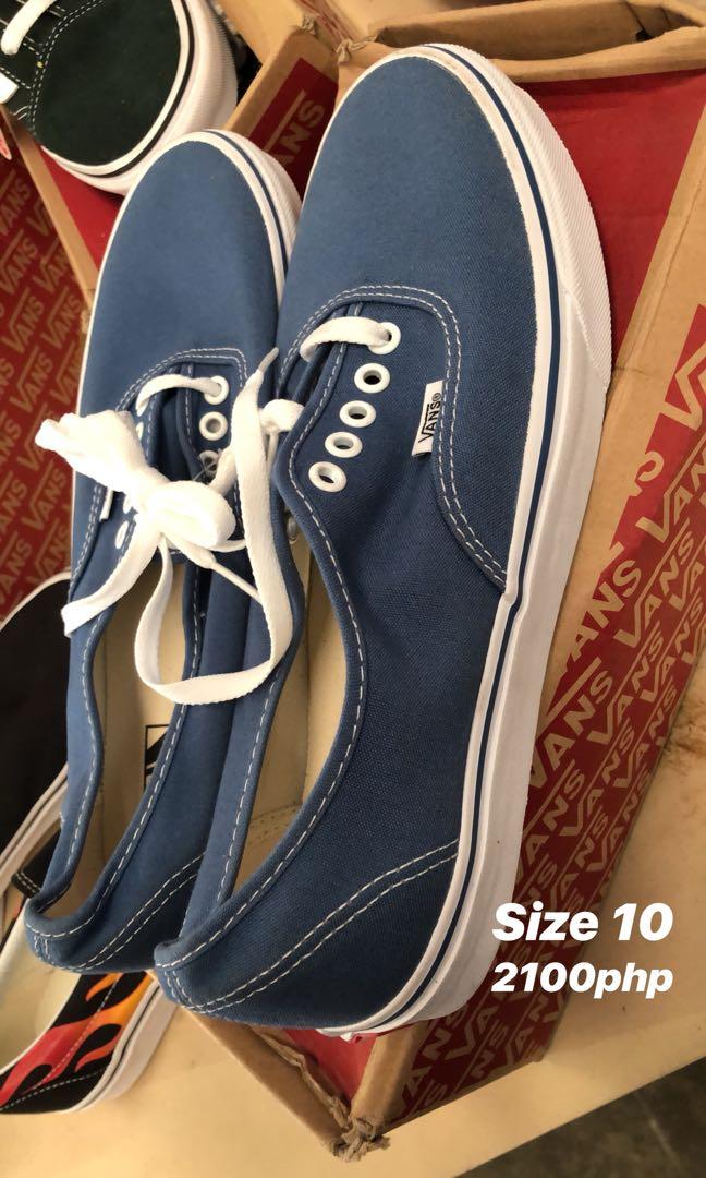4ff3c5f02eb3 Vans Size 10 Blue