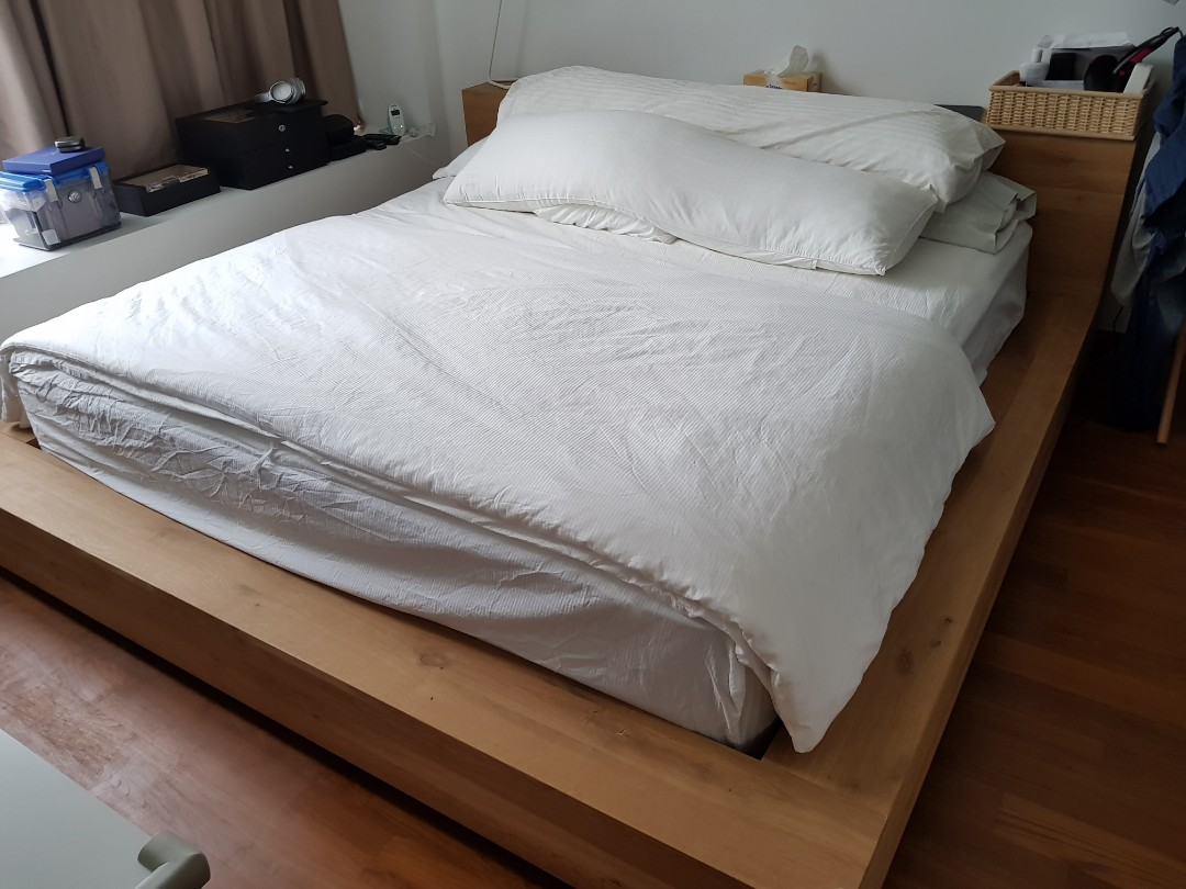 Madra Bed Ethnicraft : Very good condition ethnicraft madra bed frame for sale