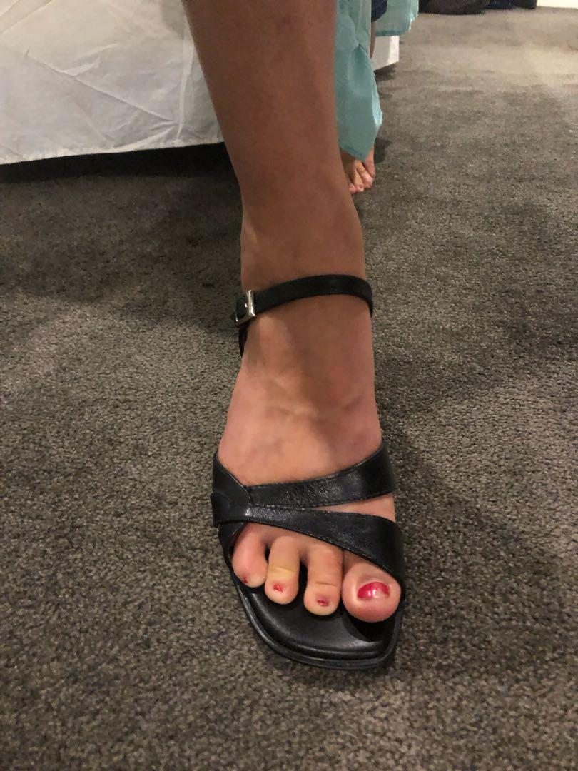 Zak leather wedge sandals