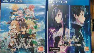 SAO Game Directors Edition Sword Art Online vs Accel World Lost Song Hollow Fragment PS4