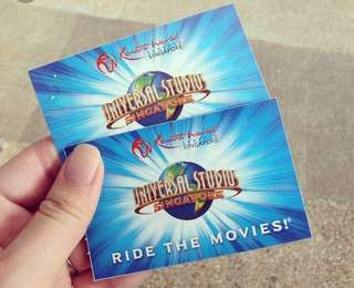 2 USS tickets at night (Only on 7th July) with $10 food voucher