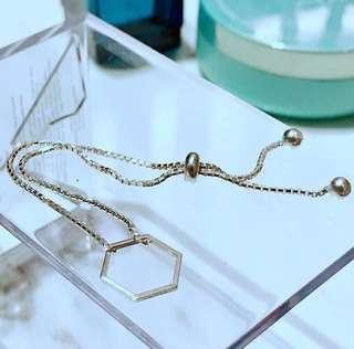 [純銀手工]  六角簡約銀索#bracelet