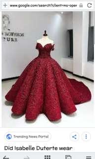 Unique gowns 💘