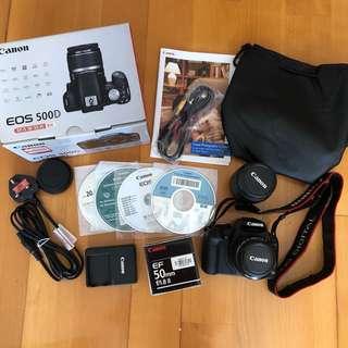 Canon 500D kit + 50mm lens