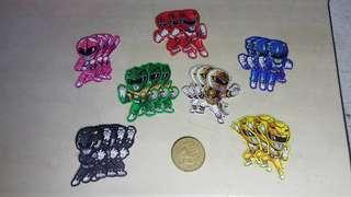 Power Ranger sticker set