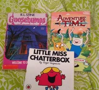 3 random books lol