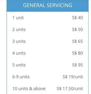 2normal service $50/3unit$65