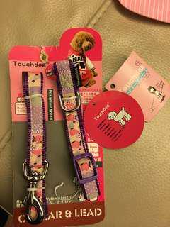 日本touch dog紫色頸繩小型犬適用