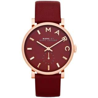 Marc by Marc Jacobs MBM1267 Baker Maroon Dial Leather Ladies Watch