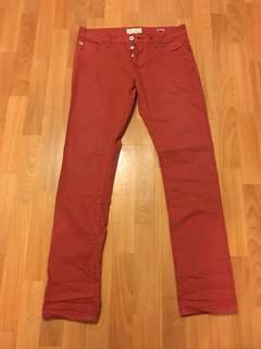 "Scotch & Soda磚紅色牛仔褲腰圍32"" Brick-color jeans waist 32"""
