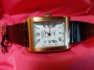 Rotary~勞特萊~ 瑞士製swiss made機械腕錶,限量發行, 編號是 241/500 手錶側面及背後是透視, 全新有吊牌及原裝盒