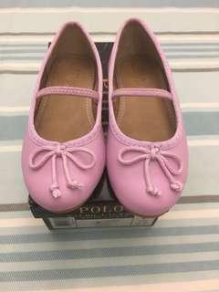Polo Girl Purple Ballet Flat Shoes US9