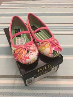 Polo Girl Flora Ballet Flat Shoes US8