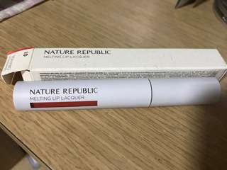 Nature republic melting lip lacquer #1