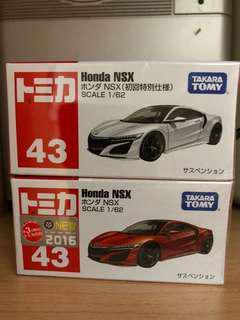 Tomica Tomy Honda NSX 43 初回限定 兩架不散賣