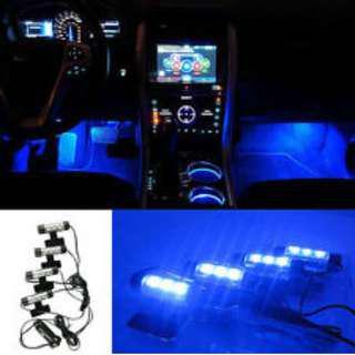 BNIB Cool Blue Car Interior Atmosphere LEDs