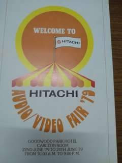 Hitachi launch brochure 1979