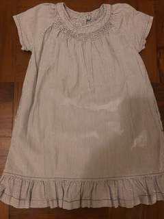 Petit Bateau striped dress - size 2