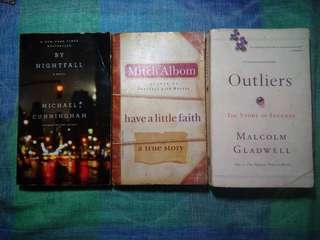 By Nightfall, Have a Little faith , Outliers