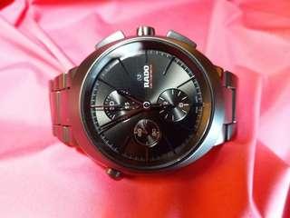 Rado~ 機械自動追針計時,限量發行,編號是083 /250黑色陶瓷錶殼及錶帶,原價五萬多元 ,只帶數次, 保證真貨,可上總代理交收