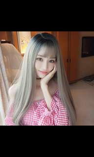 (NO INSTOCK!)BEST SELLING!😍'Preorder' korean Fluffy long straight ladies wig * waiting time 15 days after payment is made *chat to buy to order