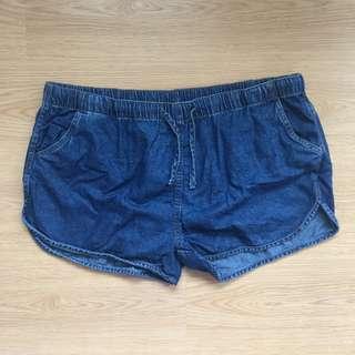(US 3XL) Preloved denim dolphin shorts