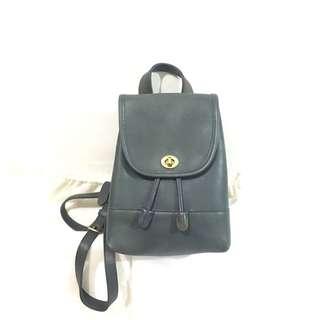 中古 經典 coach 牛皮款 leather backpack classic design 9成新