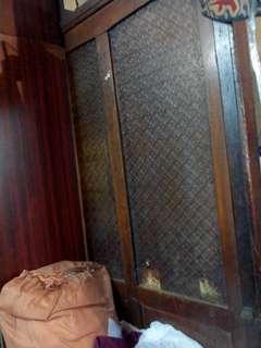 五十年前木/玻璃屏封