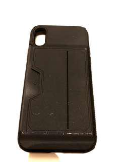 TPU Black iphone X case with credit card slot