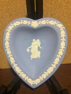 Wedgwood Jasperware Dancing Hours Heart Shaped Tray