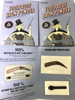 [試用裝] benefit foolproof brow powder 眉粉 sample