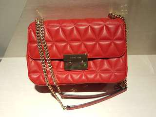 BN Michael Kors Sloan Large Quilted-Leather Bag