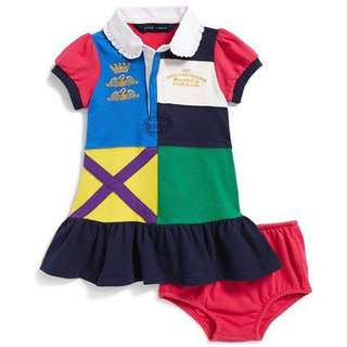 Authentic Hard to find RL multicolored dress