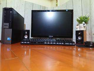 娛樂辦公電腦組Dell戴爾960 主機 全新螢幕 音響 鍵盤一次到齊